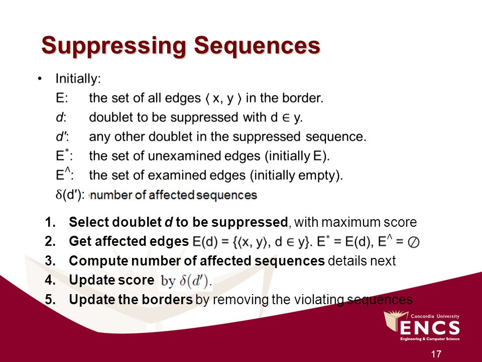 Suppressing Sequences