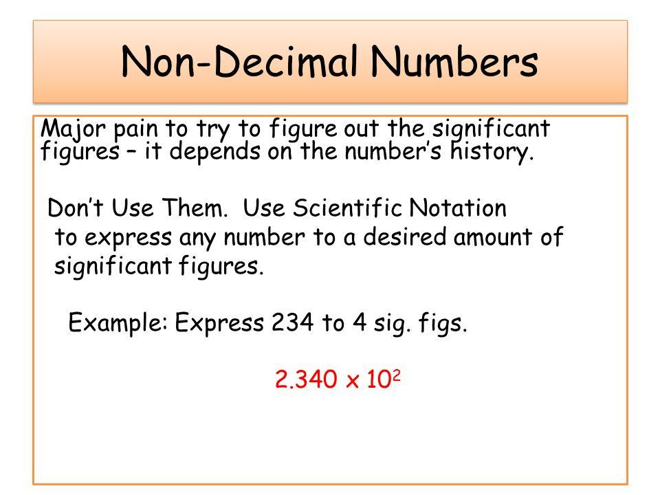 Non-Decimal Numbers
