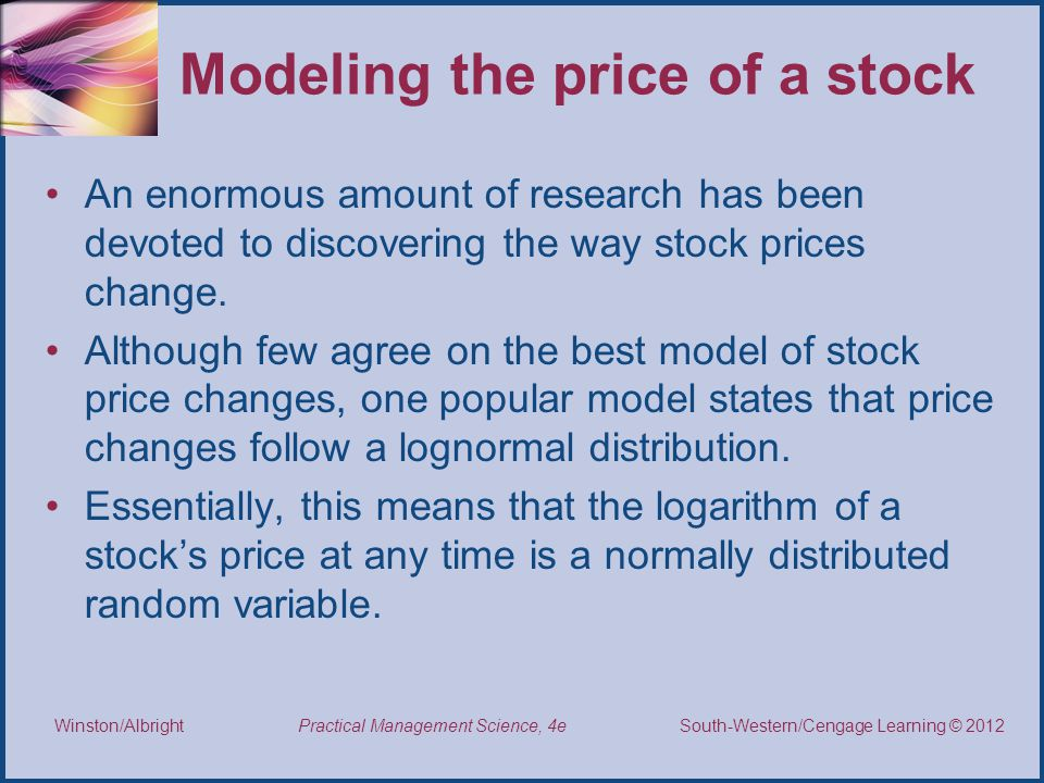 Modeling the price of a stock