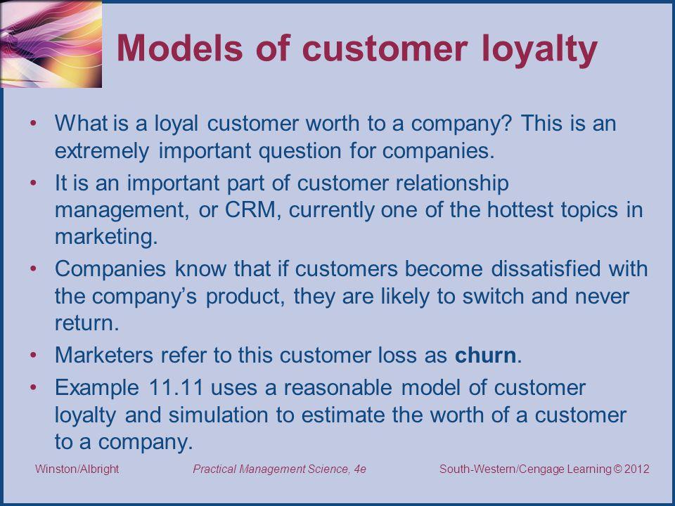 Models of customer loyalty