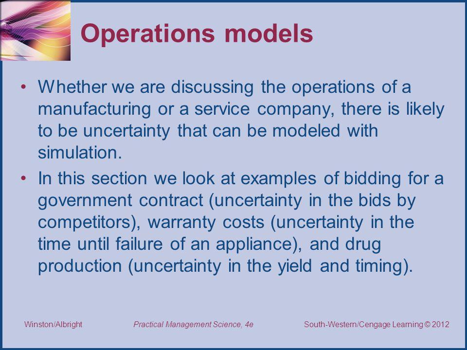 Operations models