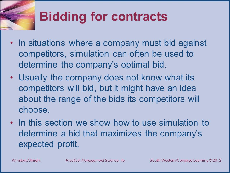 Bidding for contracts