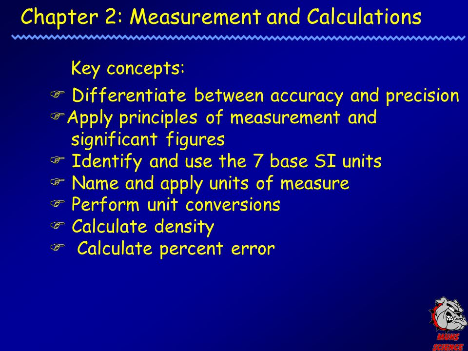 Chapter 2: Measurement and Calculations