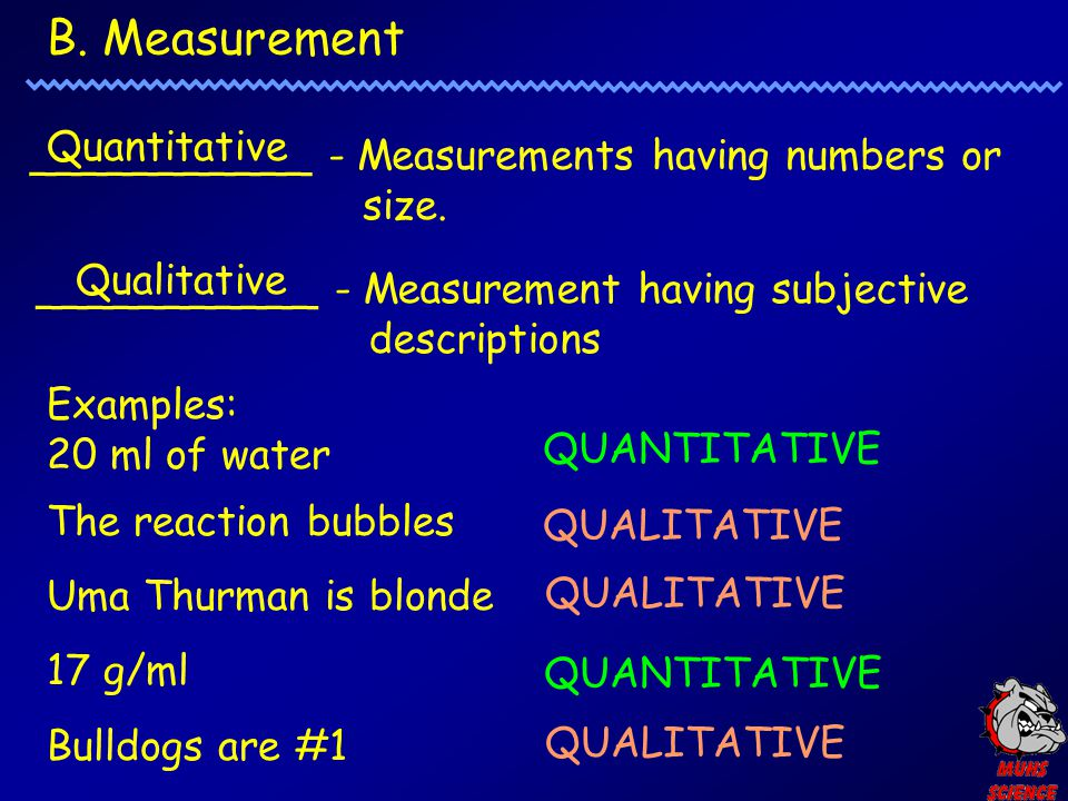 B. Measurement Quantitative
