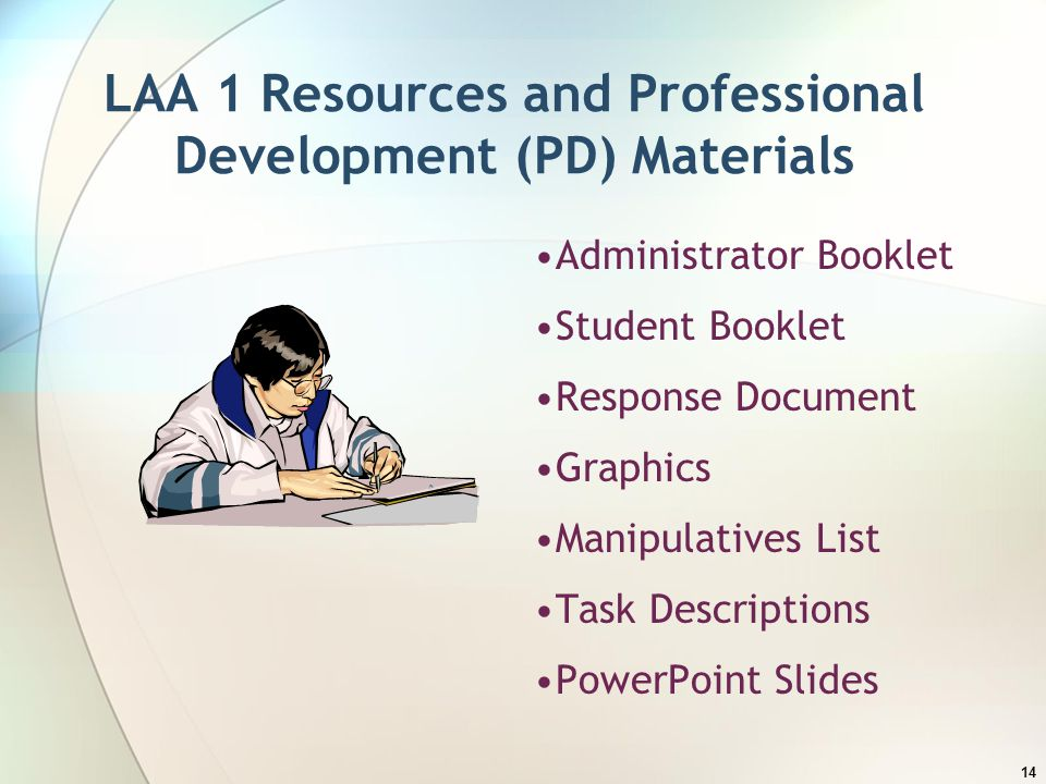 LAA 1 Resources and Professional Development (PD) Materials