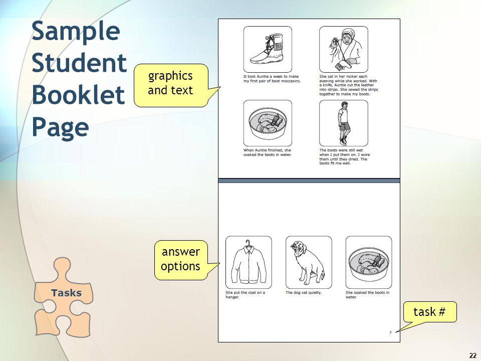 Sample Student Booklet Page