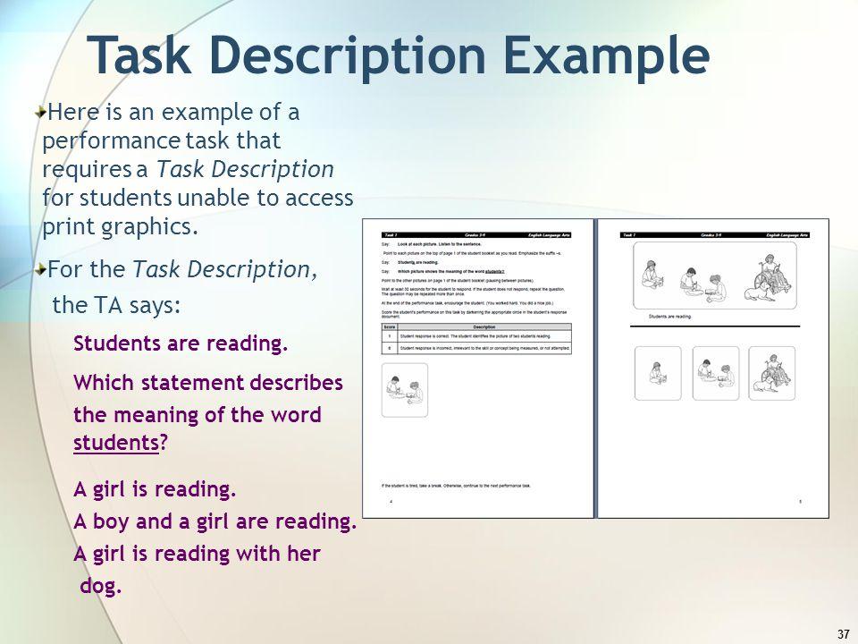 Task Description Example