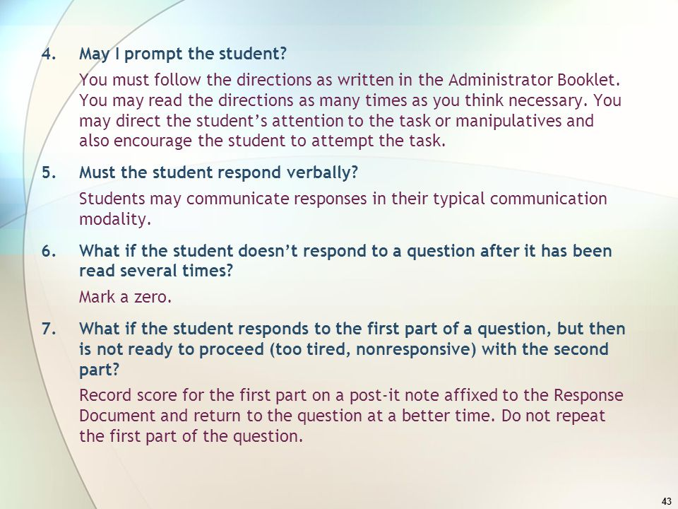 4. May I prompt the student