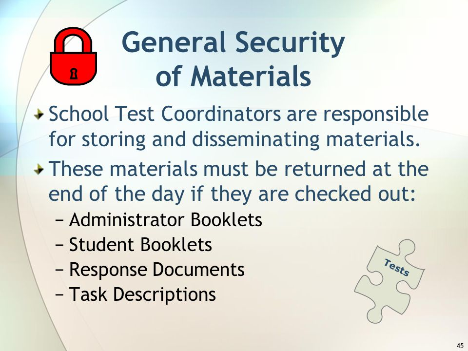 General Security of Materials