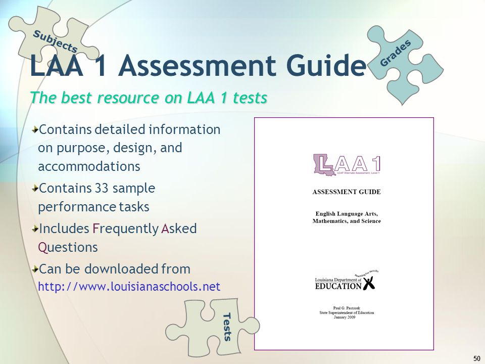 LAA 1 Assessment Guide The best resource on LAA 1 tests