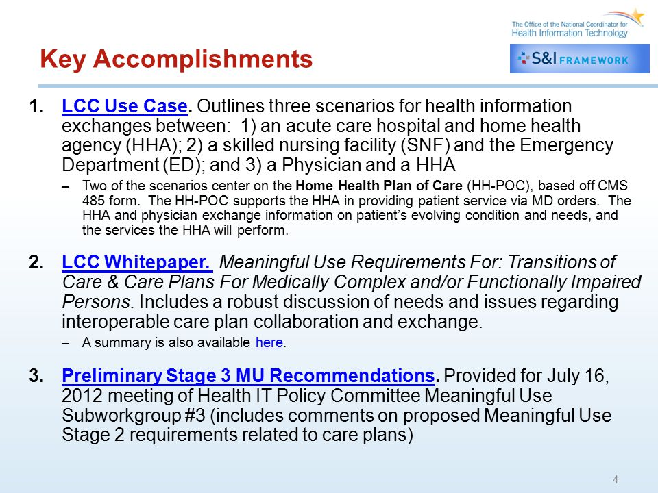 Key Accomplishments