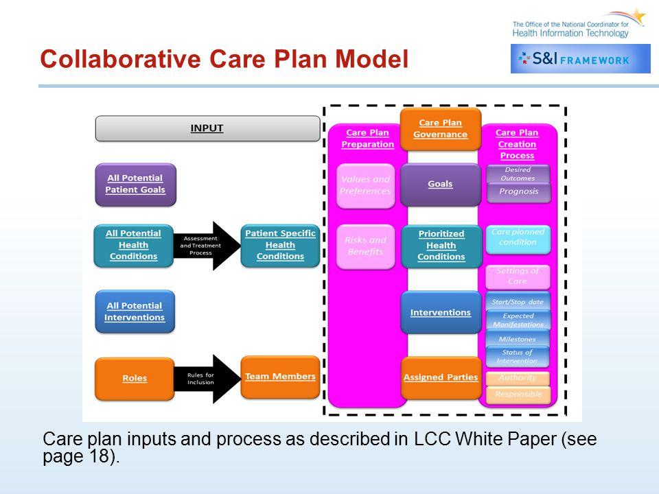 Collaborative Care Plan Model