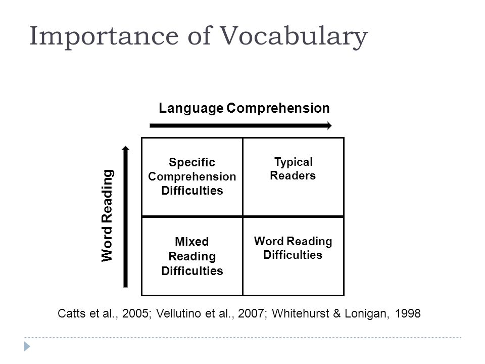 Specific Comprehension Difficulties