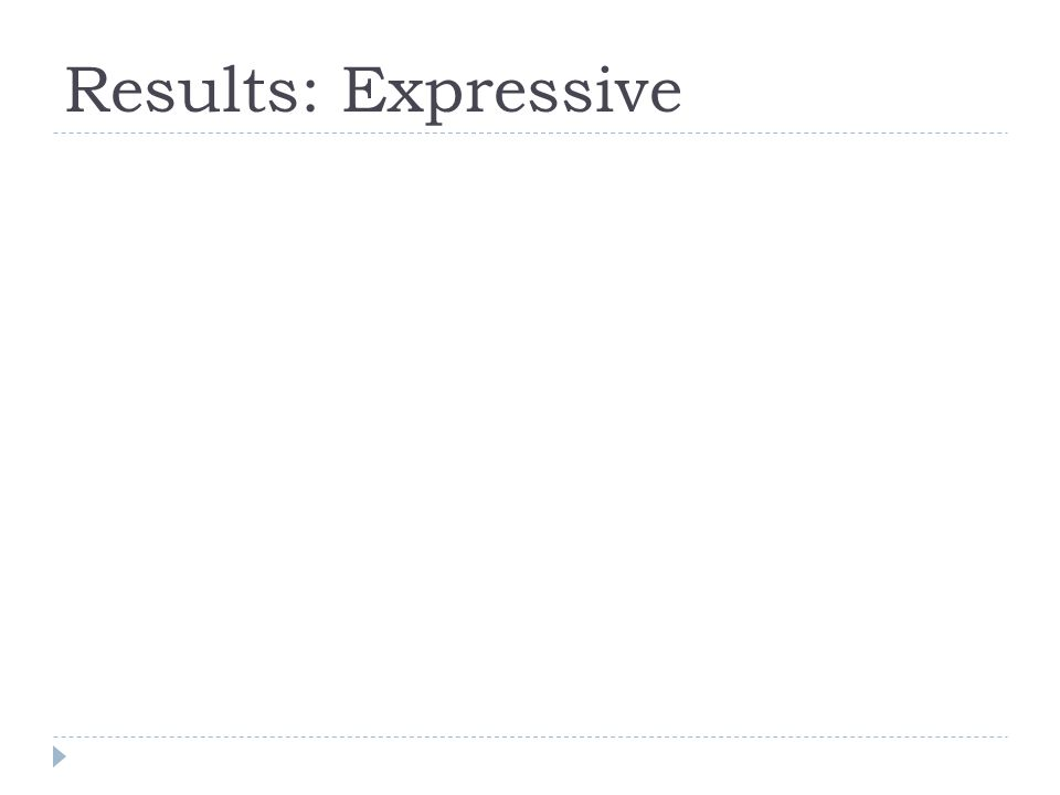 Results: Expressive