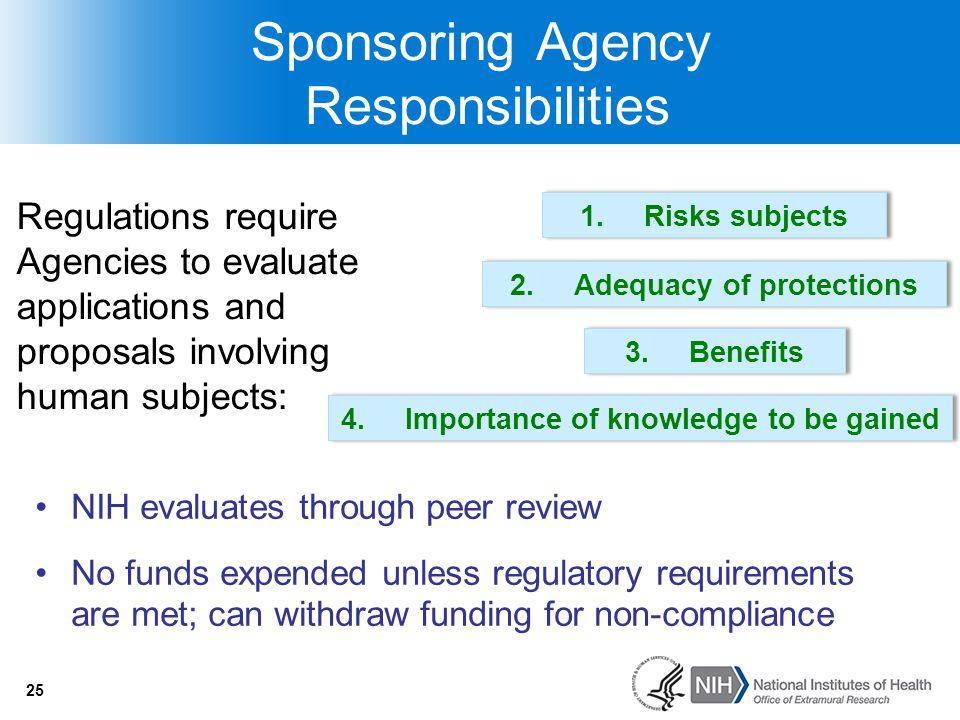Sponsoring Agency Responsibilities