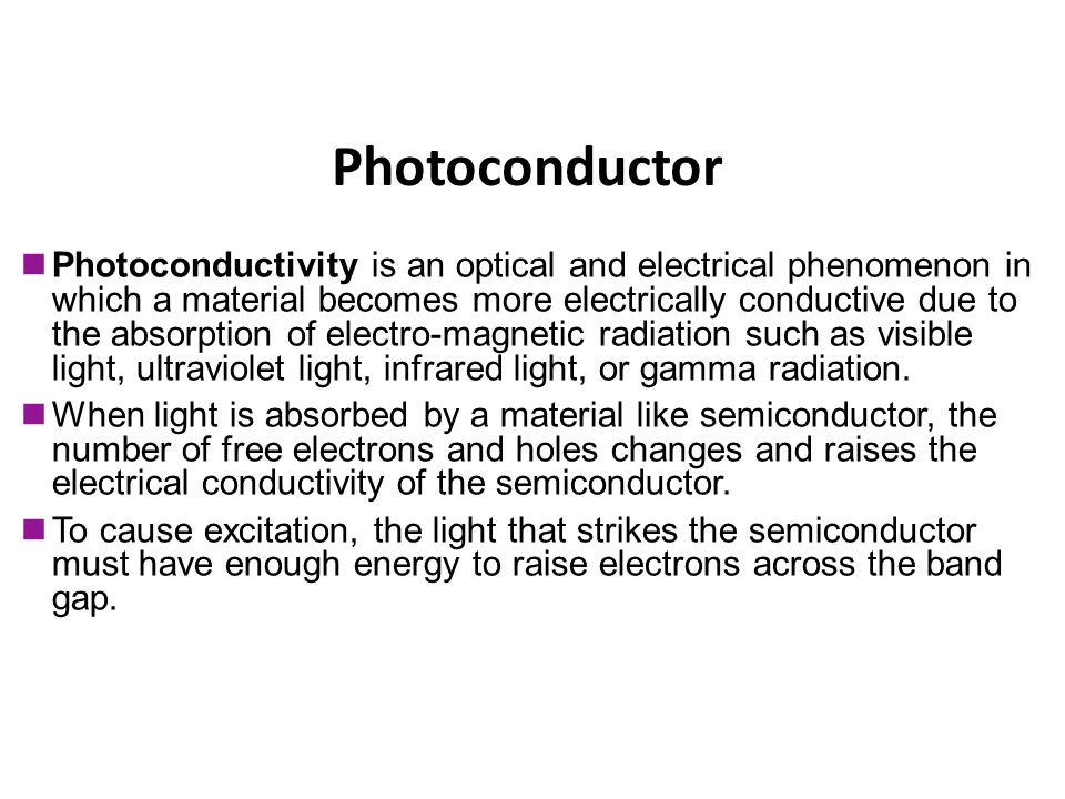 Photoconductor Photoconductor
