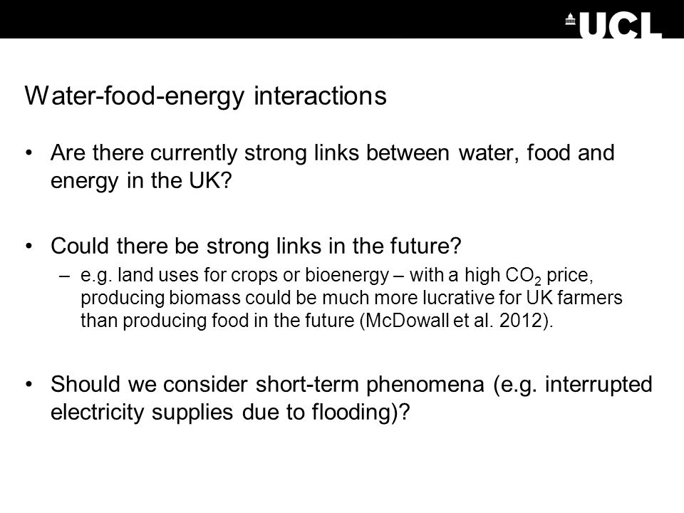 Water-food-energy interactions