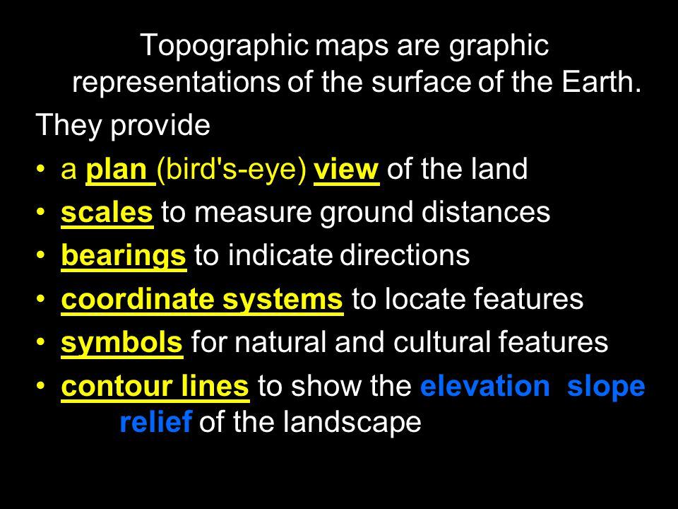Topographic maps are graphic representations of the surface of the Earth.