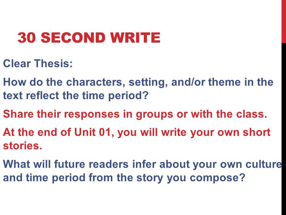 30 Second write