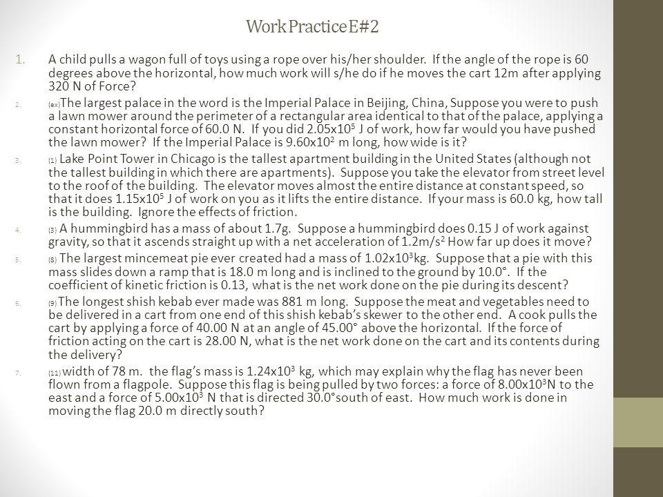 Work Practice E#2