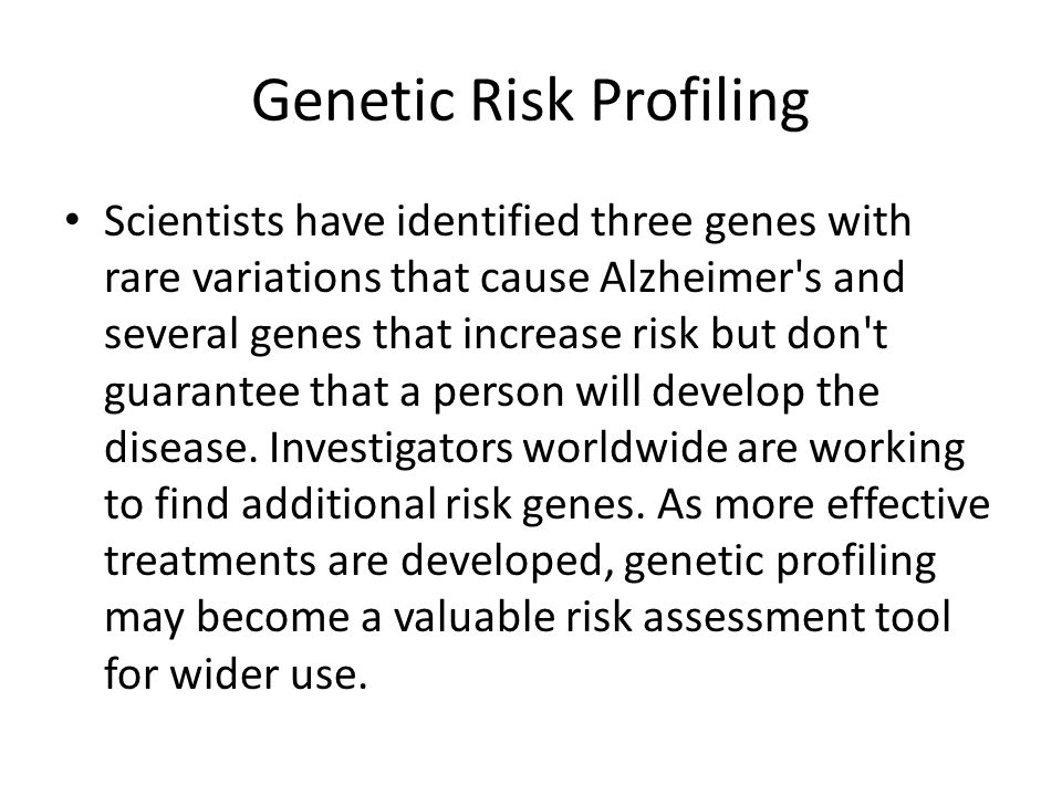 Genetic Risk Profiling