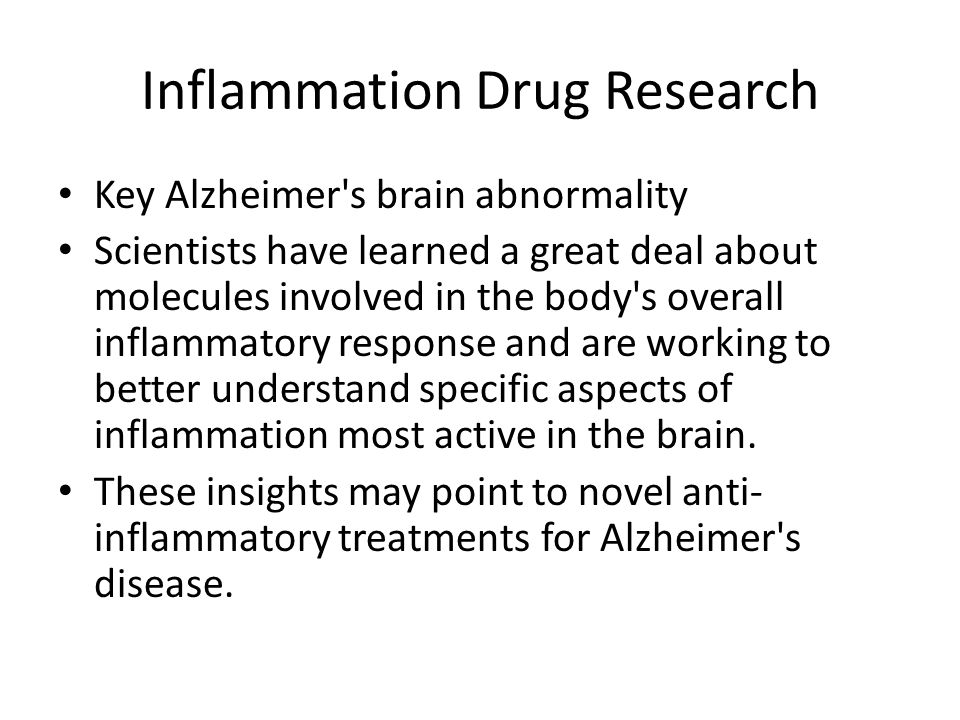 Inflammation Drug Research