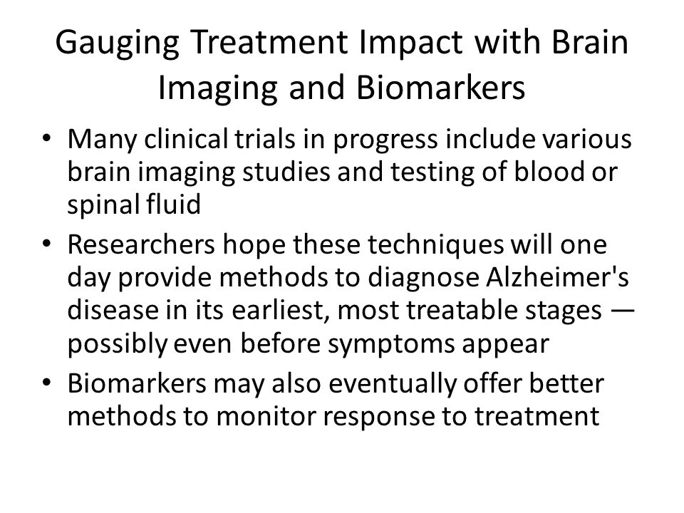 Gauging Treatment Impact with Brain Imaging and Biomarkers