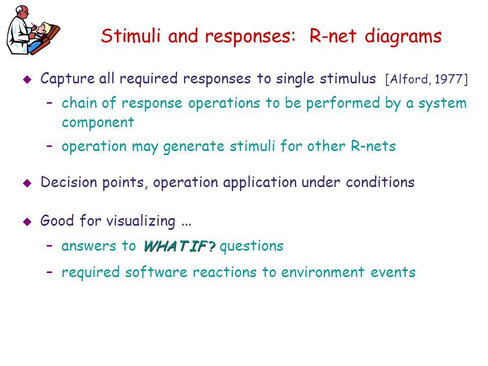 Stimuli and responses: R-net diagrams