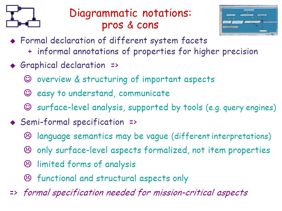 Diagrammatic notations: pros & cons