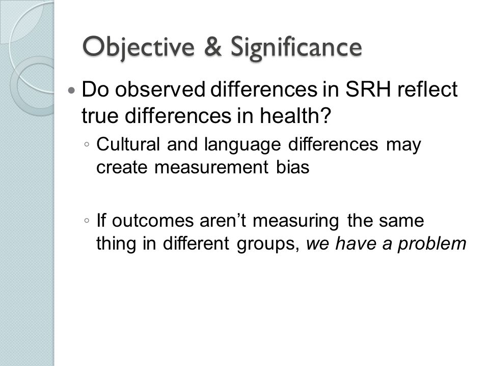 Objective & Significance
