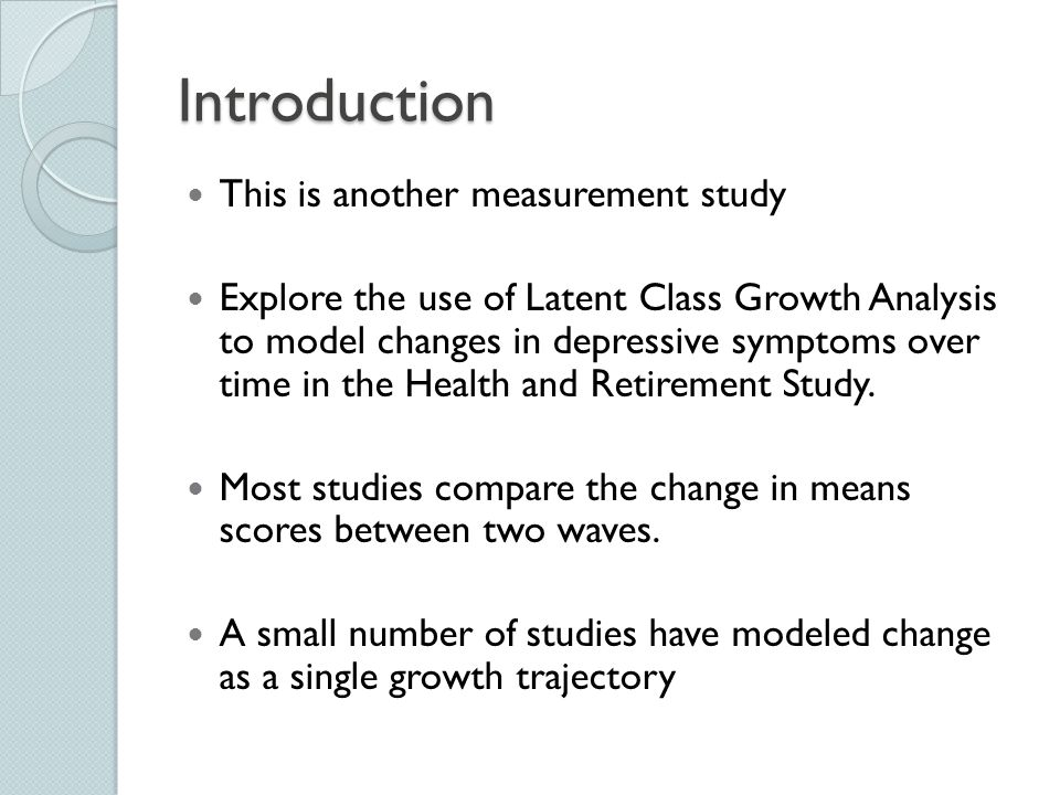 Introduction This is another measurement study