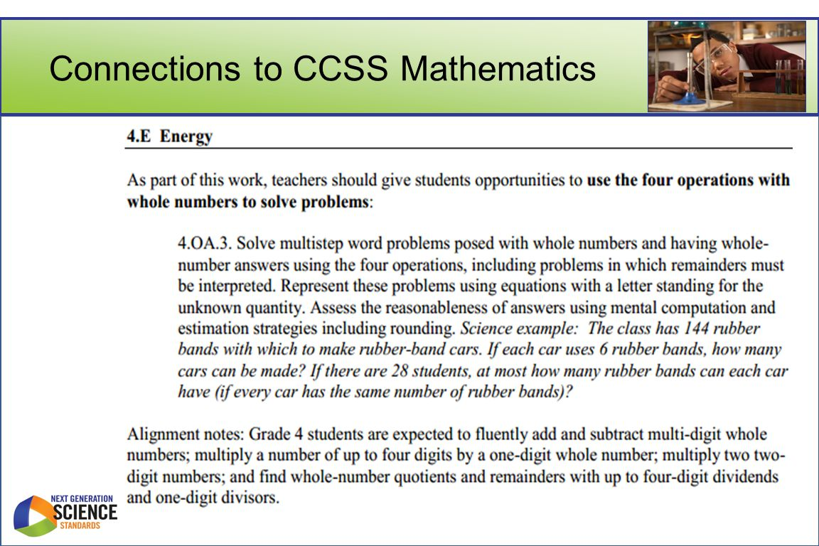 Connections to CCSS Mathematics