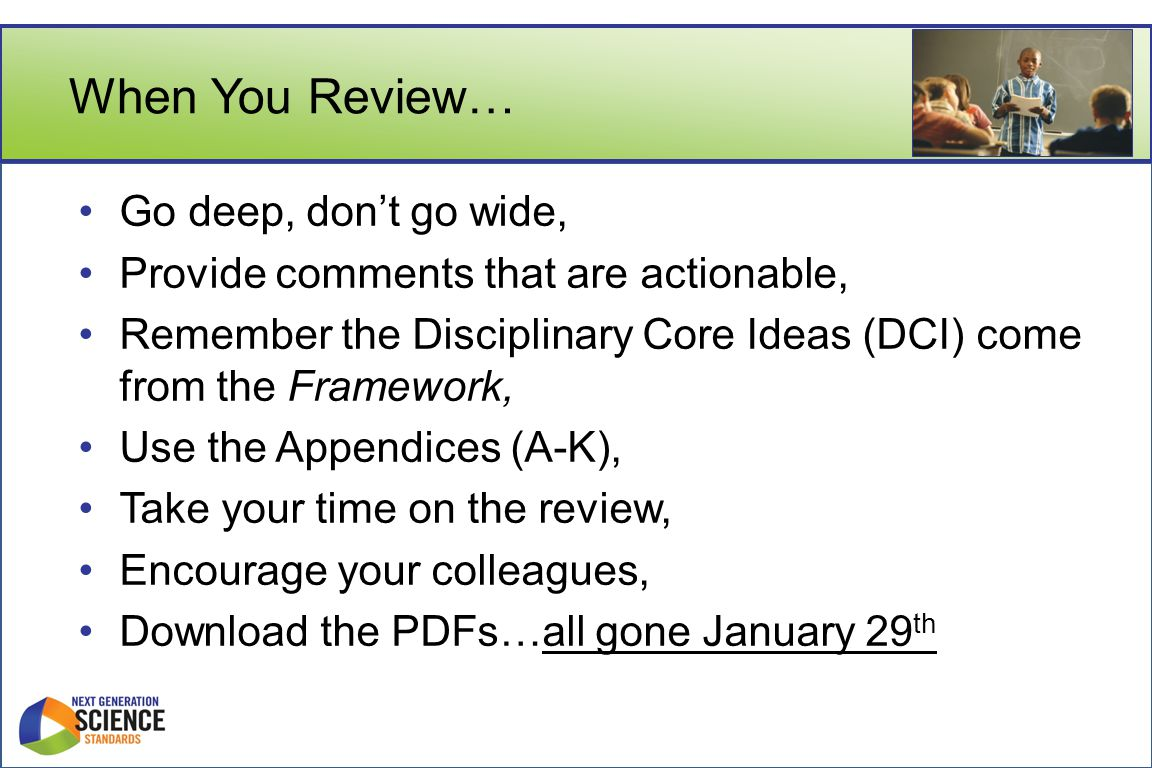 When You Review… Go deep, don't go wide,