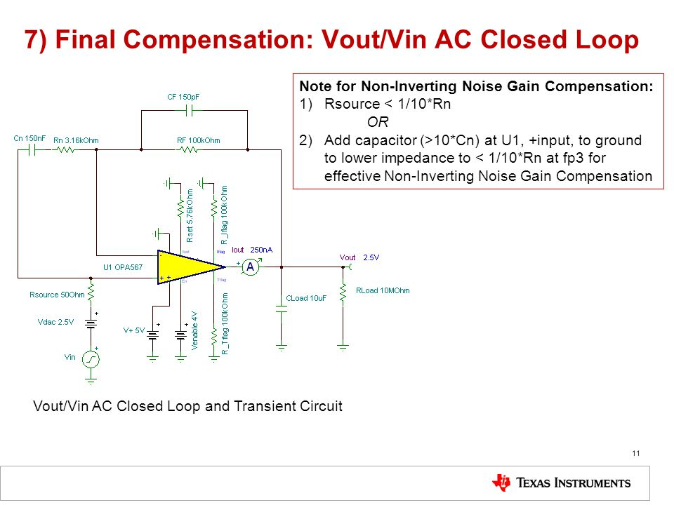 7) Final Compensation: Vout/Vin AC Closed Loop