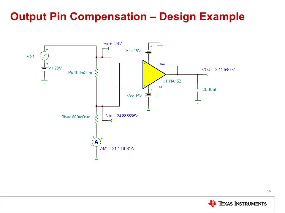 Output Pin Compensation – Design Example