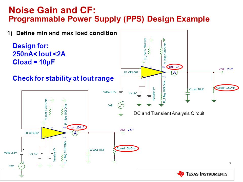 Noise Gain and CF: Programmable Power Supply (PPS) Design Example