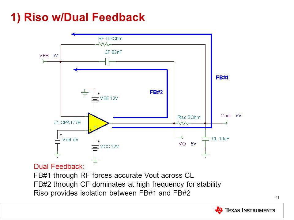 1) Riso w/Dual Feedback Dual Feedback: