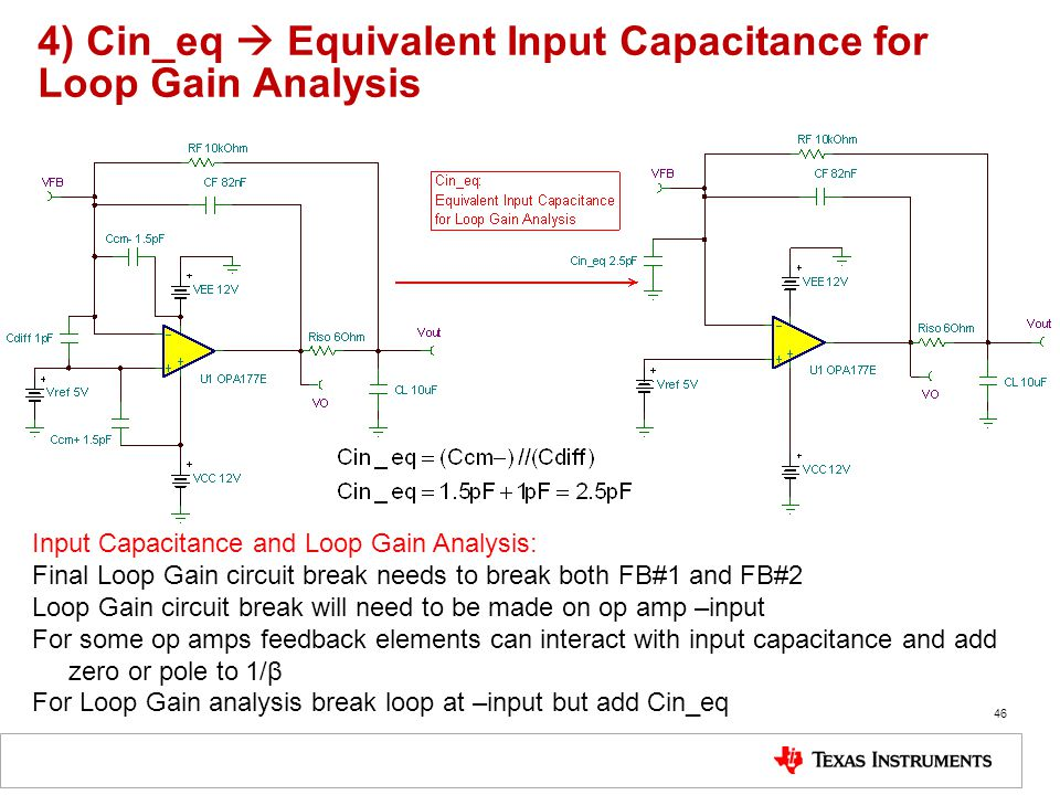 4) Cin_eq  Equivalent Input Capacitance for Loop Gain Analysis