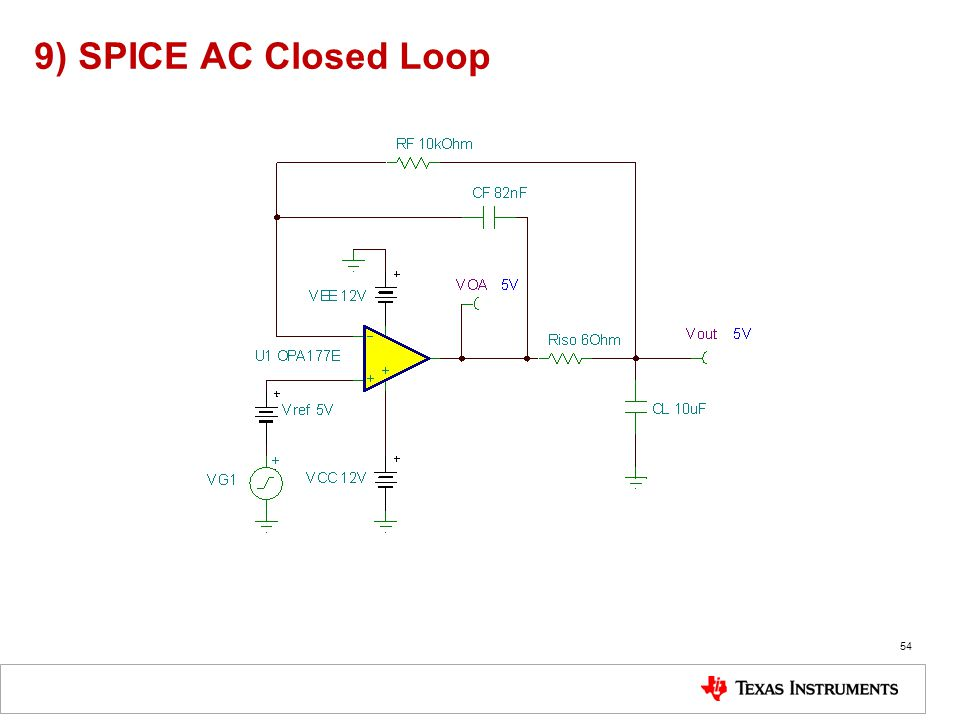 9) SPICE AC Closed Loop