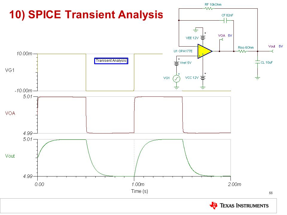 10) SPICE Transient Analysis