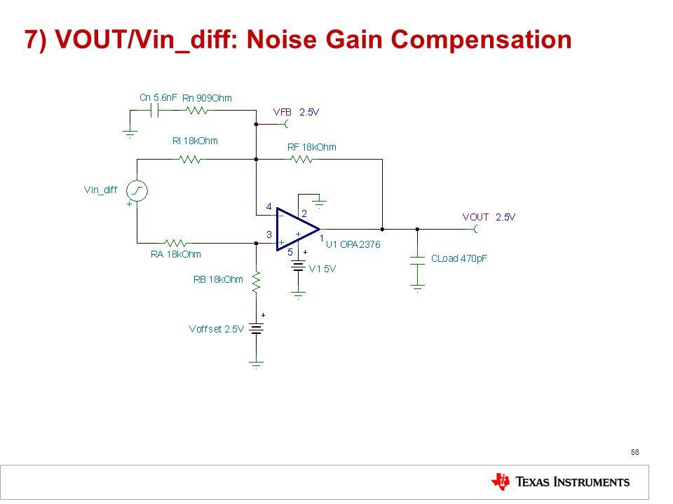 7) VOUT/Vin_diff: Noise Gain Compensation
