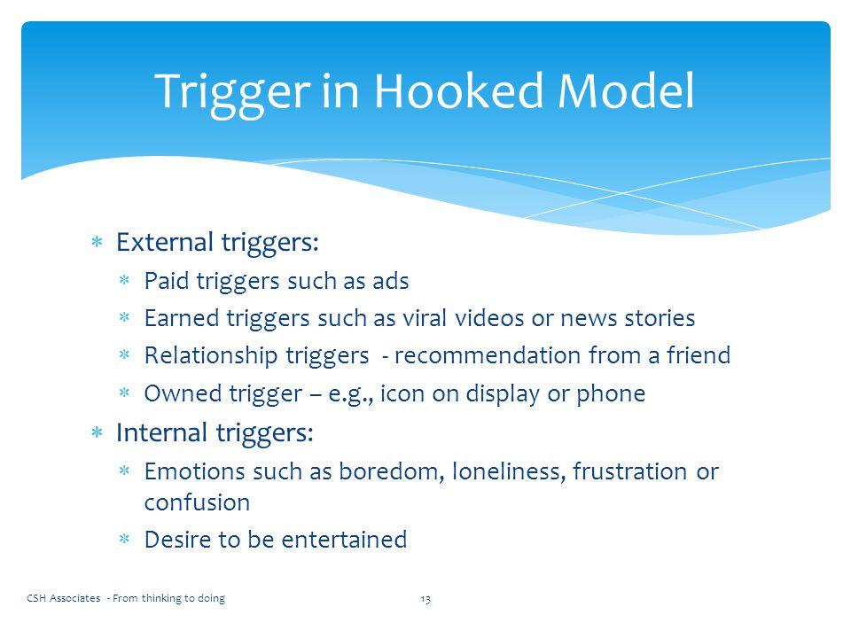 Trigger in Hooked Model