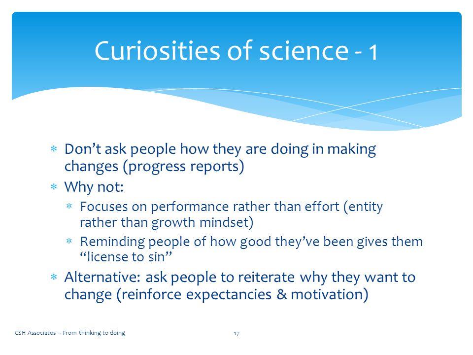 Curiosities of science - 1