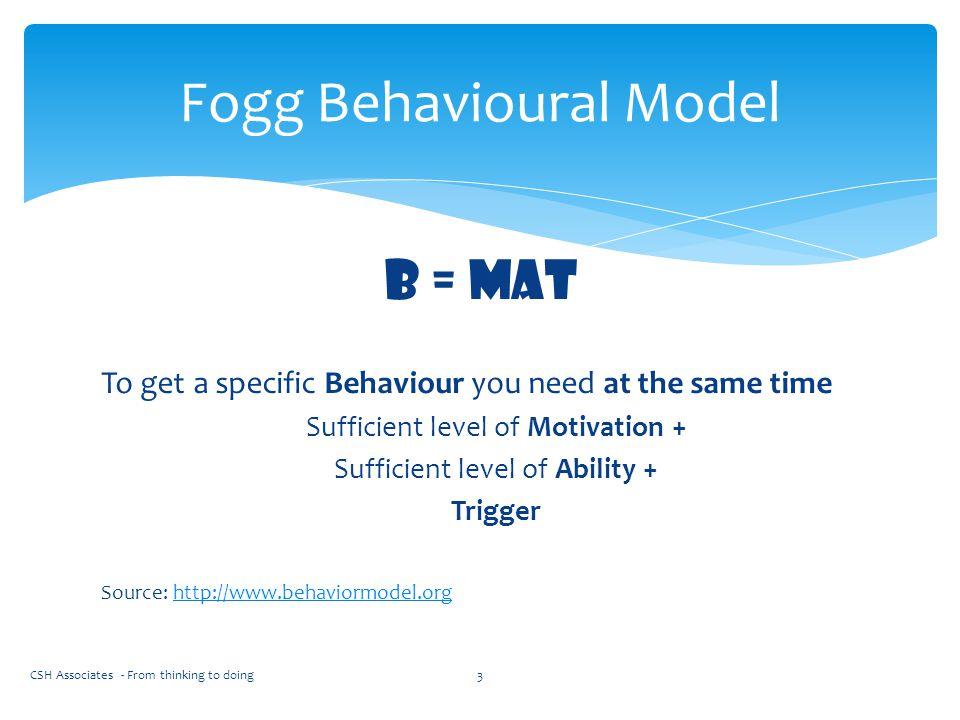 Fogg Behavioural Model