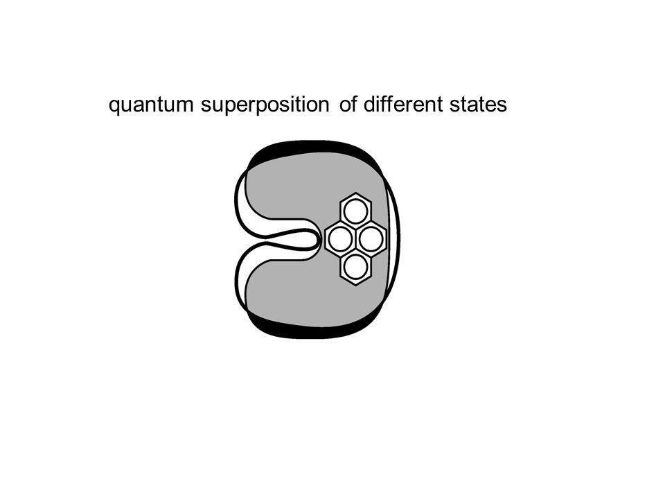 quantum superposition of different states