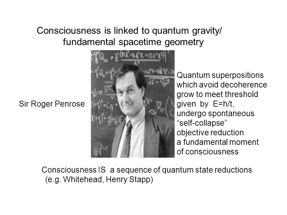 Consciousness is linked to quantum gravity/