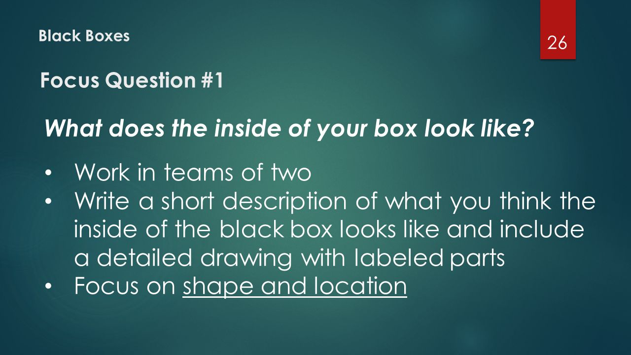 What does the inside of your box look like