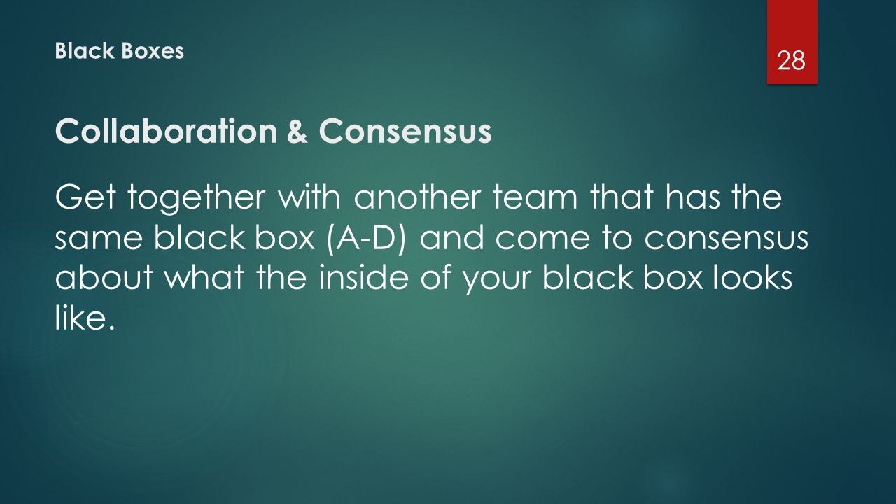 Collaboration & Consensus