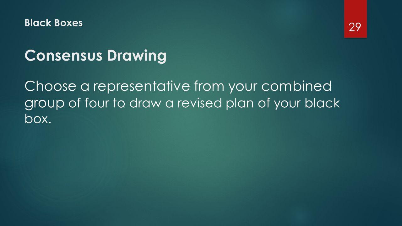 Black Boxes Consensus Drawing.