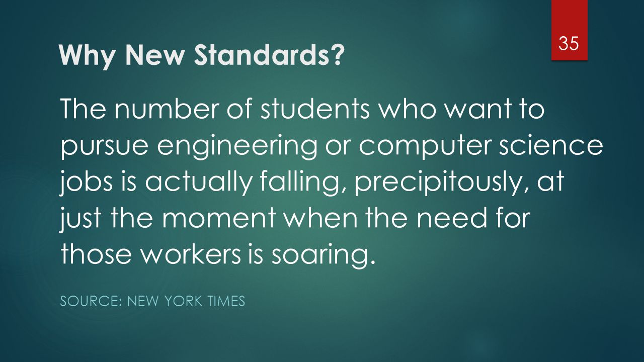 Why New Standards